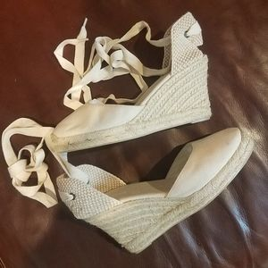 Soludos Lace Up Canvas Espandrille Wedges